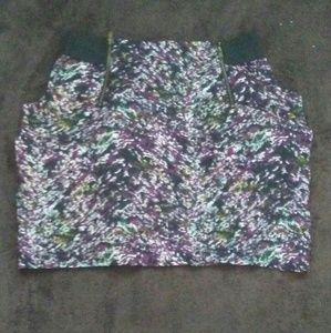 Ornate zip up skirt